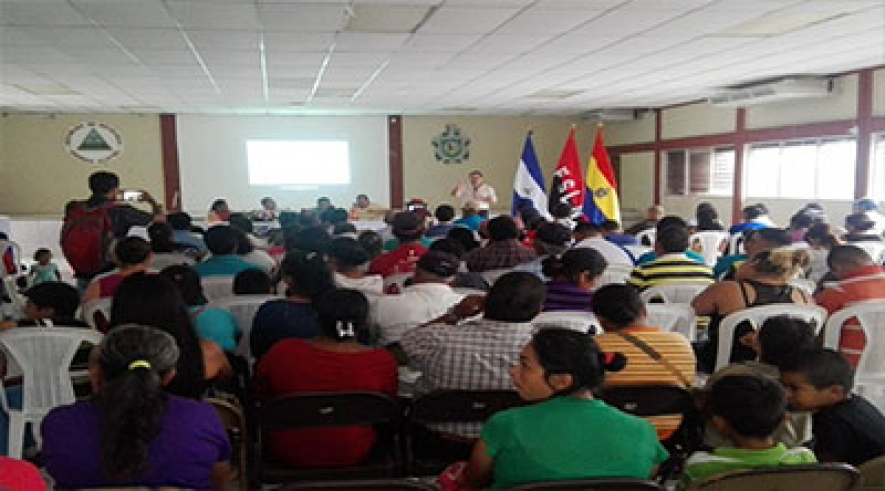 Autoridades de FAREM-Carazo participan en la presentación de la Estrategia Nacional del Sistema de Producción.